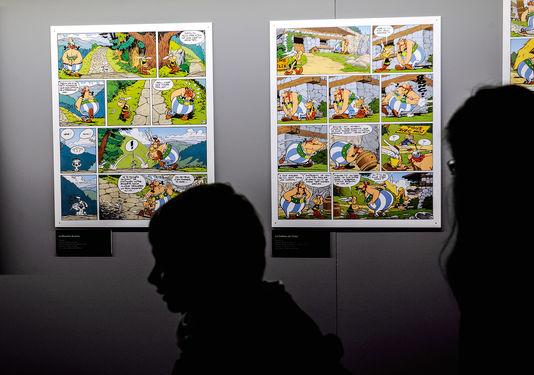 A l'ouverture de la quarantième édition du festival de BD d'Angoulême, le 31 janvier 2013. Image  Jean-Pierre Muller/AFP