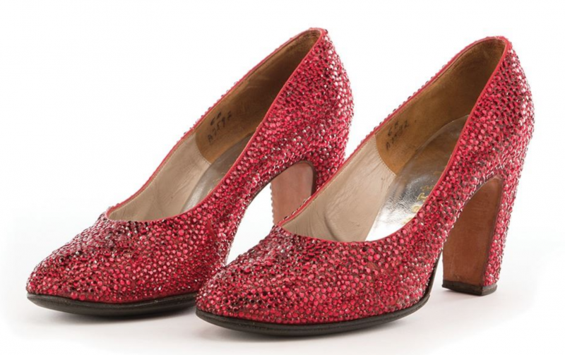 "Minnelli's ""Ruby Slippers."" Photo: Profiles in History."