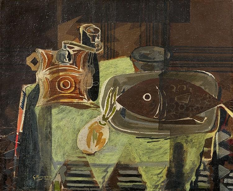 """GEORGES BRAQUE. """"Le moulin à café"""" (1942)"""