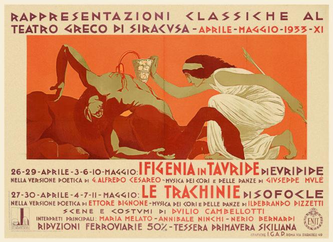 Rappresentazioni classiche al teatro greco di Siracusa, Duilio Cambellotti, 1933.