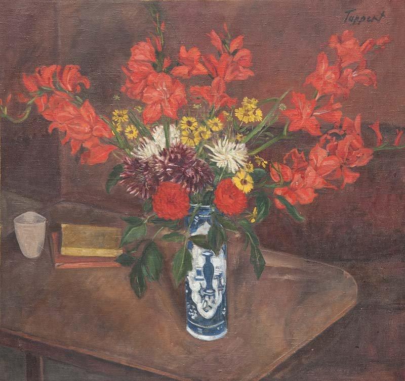 GEORG TAPPERT - Gladiolen, Öl/Lwd., 89 x 94 cm, signiert und datiert, 1943 Schätzpreis: 7.000-14.000 EUR