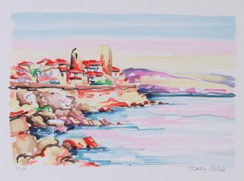 "Olivier ZLATKU, ""En bord de mer"", Lithographie PrivateLot.com"