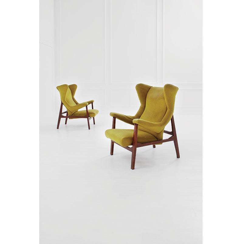 """FRANCO ALBINI - Two rare armchairs """"Fiorenza"""", 1955 Result: 29 520 EUR"""