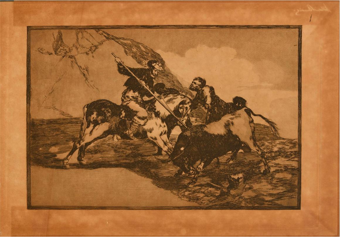 Planche issues de « La Tauromaquia », ouvrage de 40 compositions de Francisco de Goya, image ©Villandray & Associés