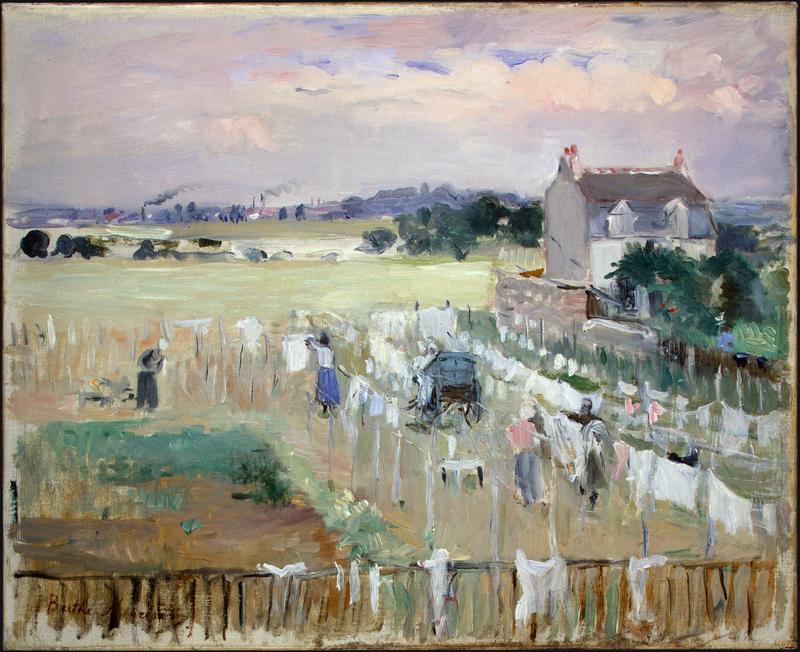 Berthe Morisot, « Percher de blanchisseuses », 1875, image via The Art Slack