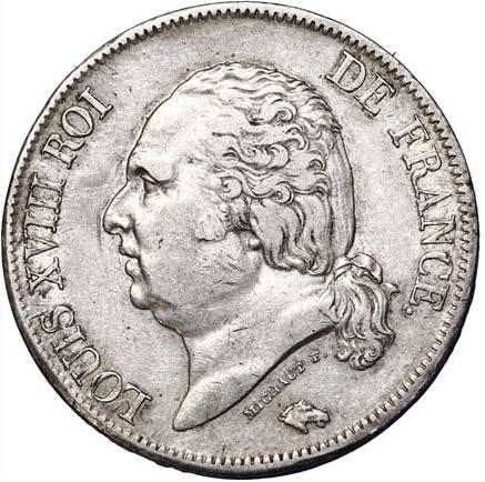5 francs Louis XVIII, tête nue 1819 Limoges
