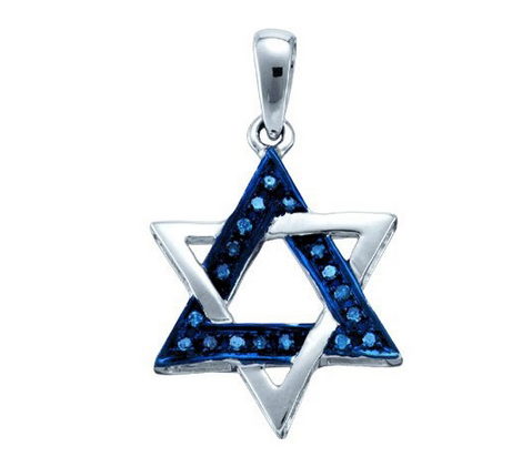 Pendentif diamants bleu 21st Century Auctions