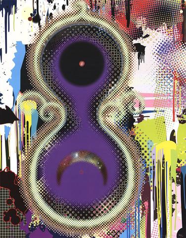 """Takashi Murakami (Japan, 1962), """"Genome No. 10"""", 2009. Litografi, signerad och numrerad."""