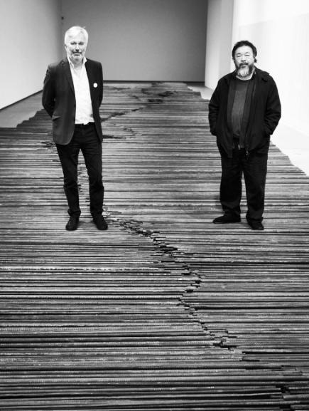Weiwei with Jens Faurschou Image via Ai Weiwei's Instagram