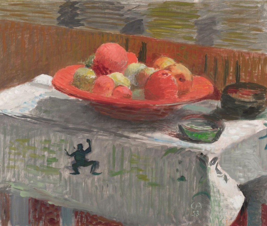 CUNO AMIET (Solothurn 1868–1961 Oschwand) - Stillleben mit Äpfeln, Öl/Hartfaserplatte, monogrammiert und datiert, 1953 Schätzung: 40.000-60.000 CHF (38.100-57.140 EUR)