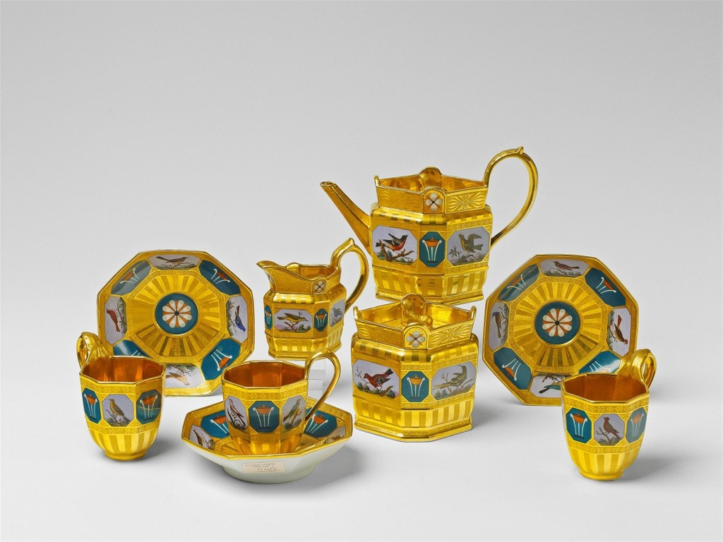 Seltenes Service mit Mikromosaikmalerei Berlin, KPM, um 1820 Schätzpreis: 14.000-16.000 EUR