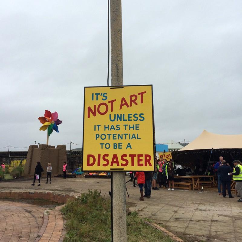 Dismaland av Banksy, installation och gatukonst