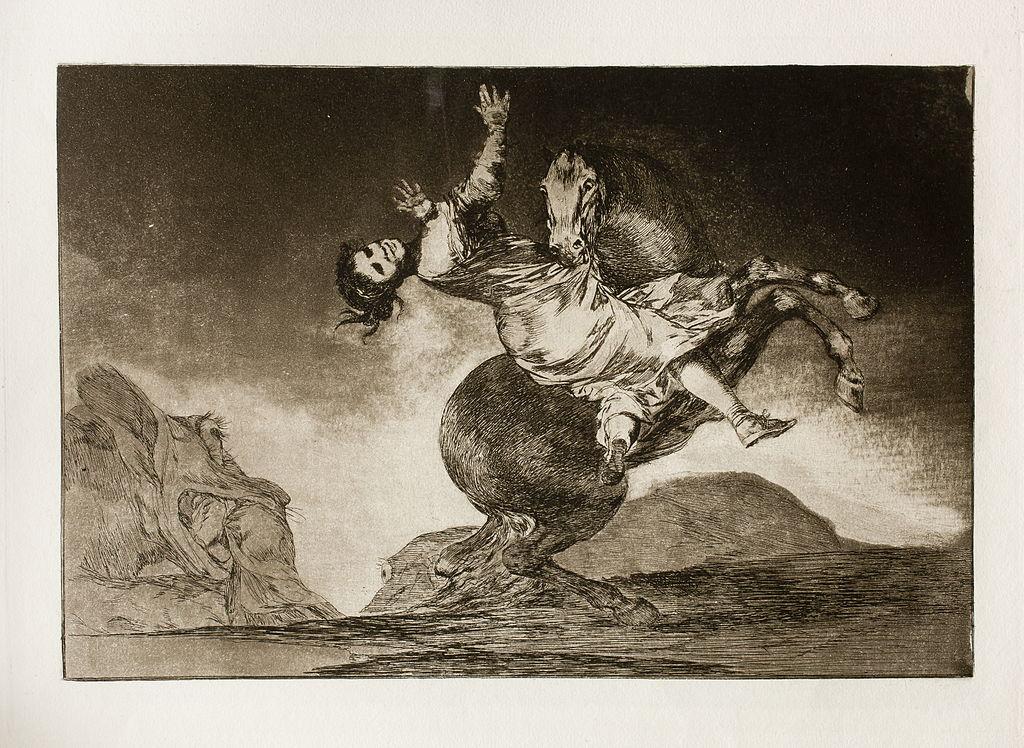 Los Disparates (1864) Νο. 10: El caballo raptor (Kidnapping horse)Image: Museo del Prado