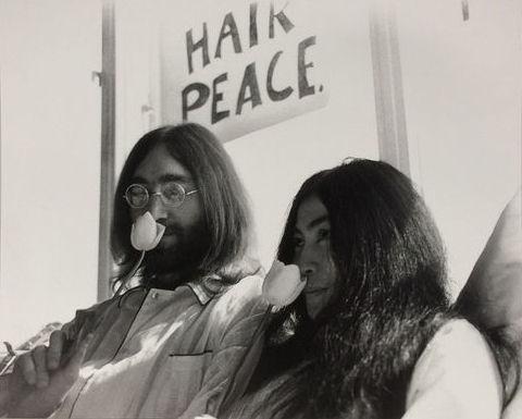 Nico Koster , John Lennon and Yoko Ono, Amsterdam, 1969