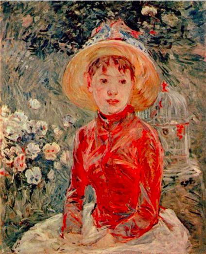 Berthe Morisot, « Le corsage rouge », 1885, image via Museums.eu