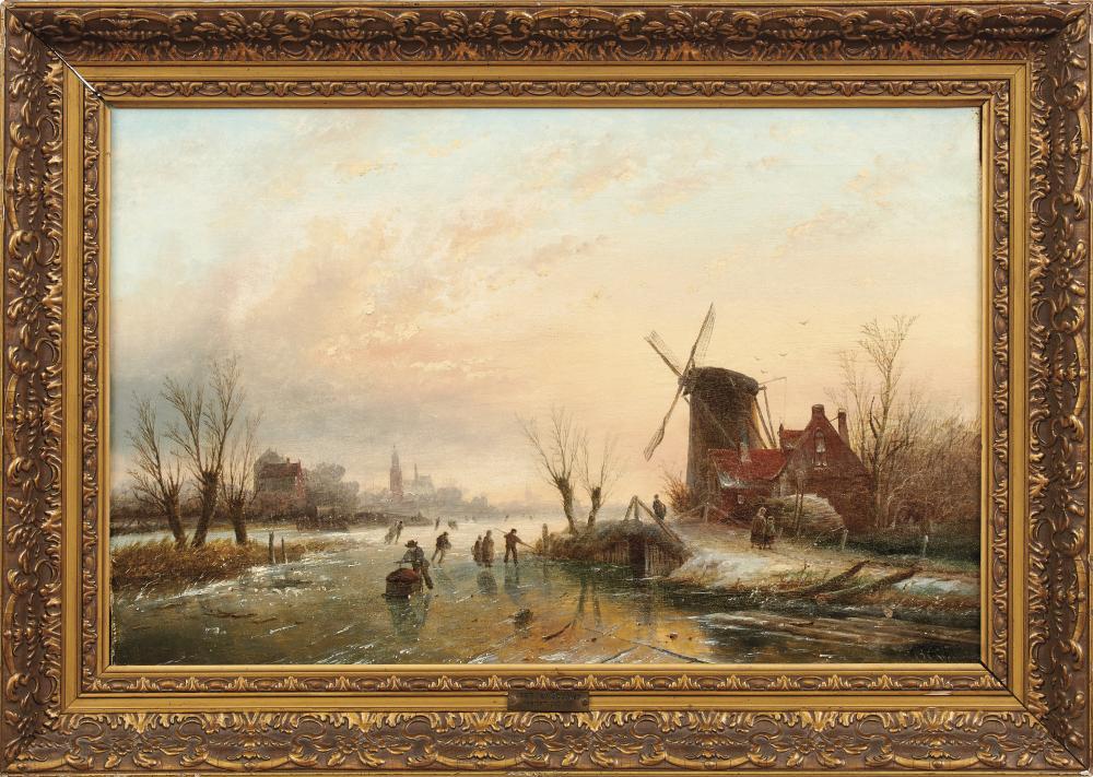 JAN JACOB COENRAAD SPÖHLER (1837 Amsterdam 1923) - Eisvergnügen, Öl/Lwd., signiert
