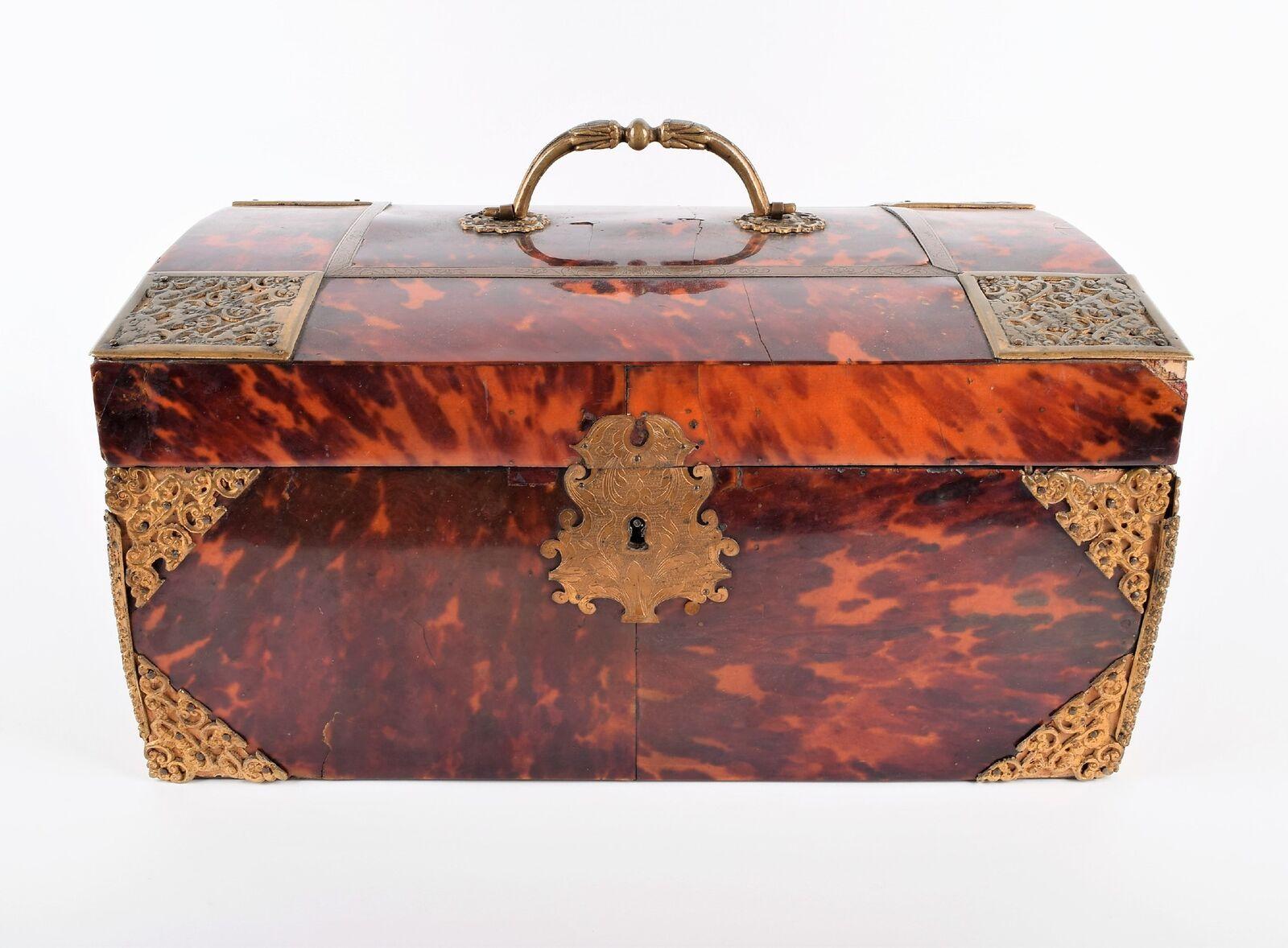 Lot 310: A large 18th-century tortoiseshell chest