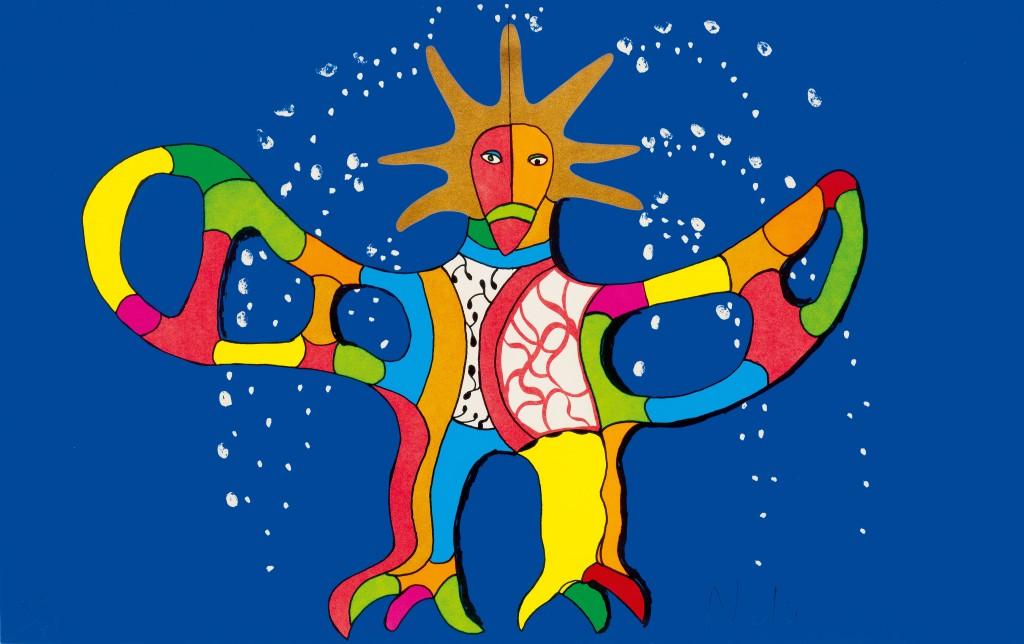 Seriegrafi, Niki de Saint Phalle. Foto: Koller.