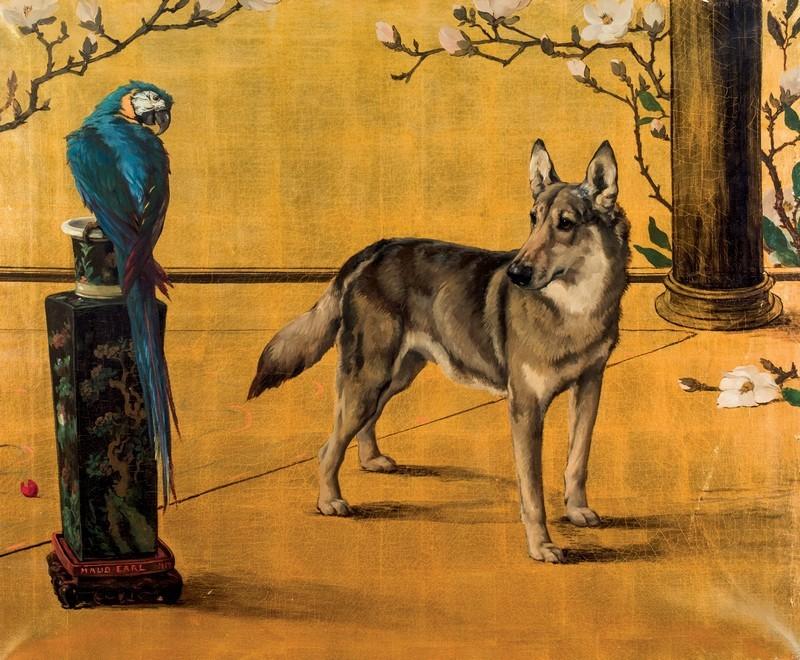 Maud Earl, 'German Shepherd and Parrot'. Foto: Durán Arte y Subastas.