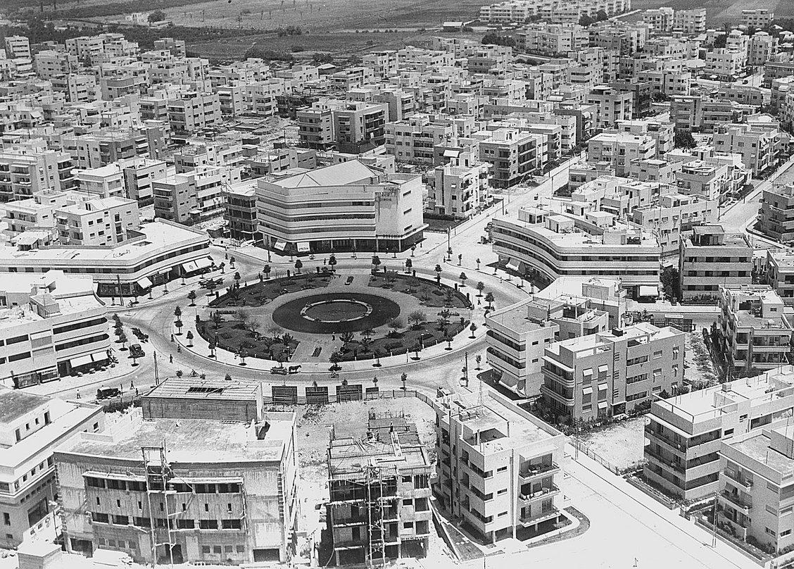 Bâtiments Bauhaus à Tel-Aviv, image via Pinterest