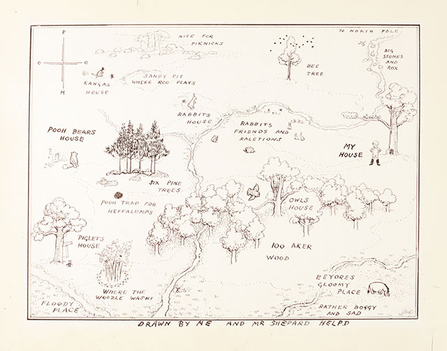 E.H. Shepard, Winnie-the-Pooh's Hundred Acre Wood, 1926 | Abb.: ©Sotheby's