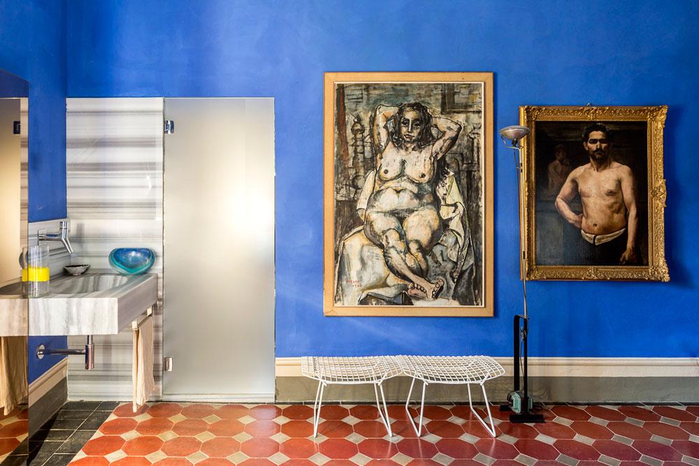 Sovrummets blå väggar. © Francesca Anichini.