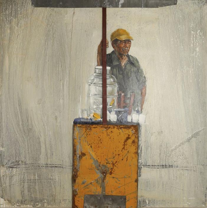 Emmanuel Michel (né en 1970) Le marchand ambulant, 2000