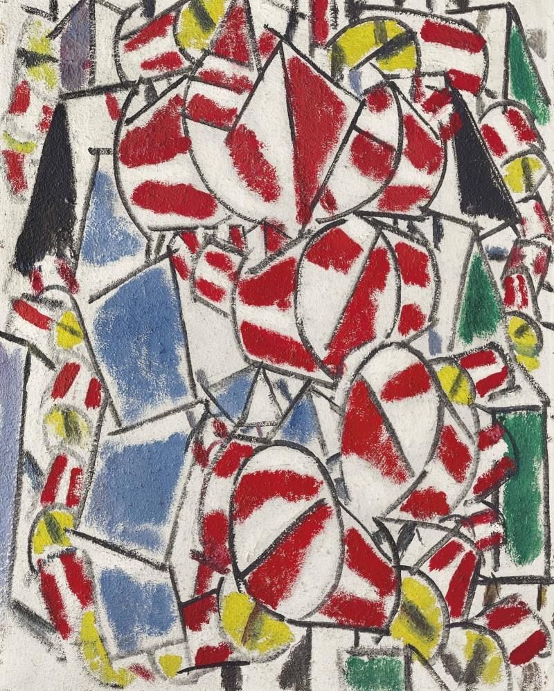 Fernand Léger, Contraste de formes, 1913 Abb.: Christie's