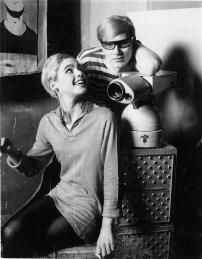 Edie Sedgwick et Andy Warhol Image via agnautacouture.com