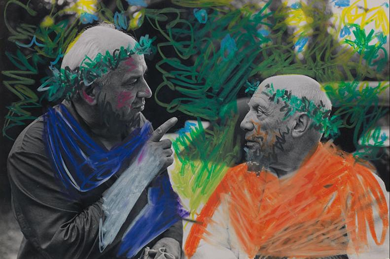 Pablo Picasso, Picasso et Jacques Couelle, 1960 Original photograph by David Douglas Duncan. Image via Sotheby's