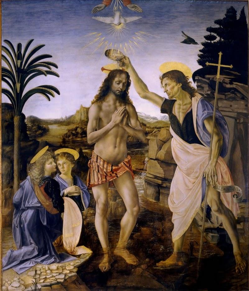 Andrea_del_Verrocchio och Leonardo Da Vinci