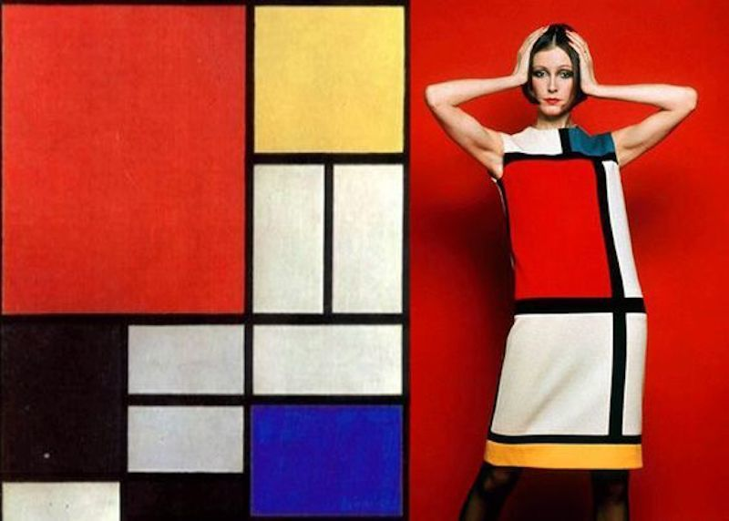 Yves Saint Laurents Mondrian-Kleid