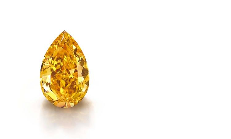 Der bislang teuerste Diamant in Orange wurde 2013 versteigert (Foto: Christie's)