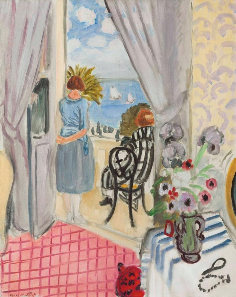 Les régates de Nice, målad i Nice år 1921. Foto: Christie's.