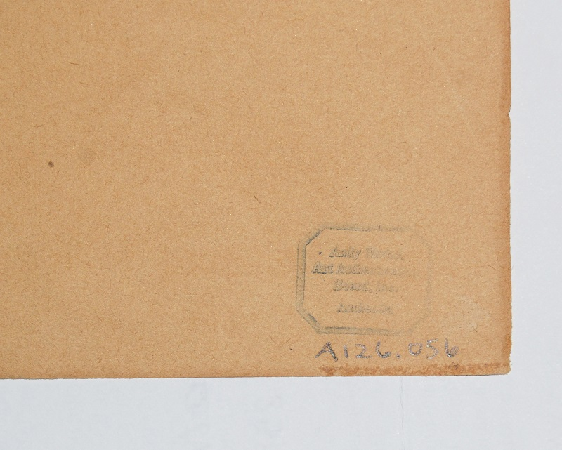 Sello en el reverso del dibujo de Andy Warhol