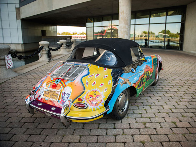 Second and bottom images - current photography of the Janis Joplin Porsche: CREDIT: Darin Schnabel © 2015 courtesy RM Sotheby's