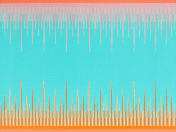 170: Richard Anuszkiewicz. orginalmålning. Utrop: $25000 - 35000