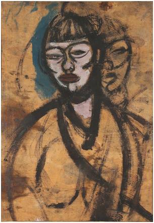 """Gino Rossi (1884-1947) olio su tavola, cm 50x73. Esposizioni: Mostra """"Gino Rossi, opere inedite"""", Palazzo Treviso 1978"""