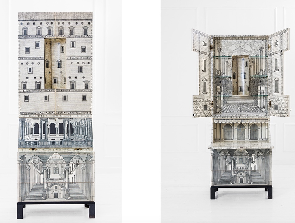 PIERO FORNASETTI - Bureau with architectural screen print, 1969 Result: 91 500 EUR