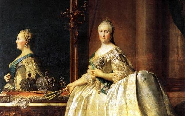 Vigilius Erichsen, Portrait of Catherine II of Russia (1729-1796), image ©Wikipedia