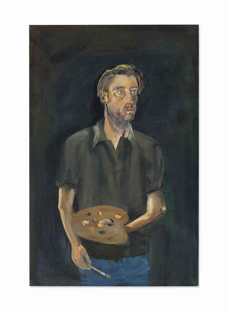 ALBERT OHLEN (*1954 Krefeld) - Selbstportrait mit Palette, 2005 Christie's