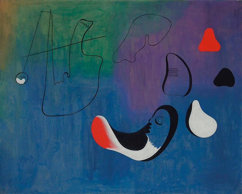 """JOAN MIRÓ, """"Peinture"""" (1933). Foto: Christies."""