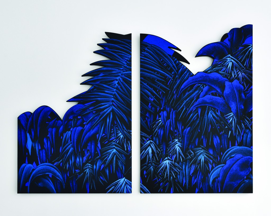 Julien Colombier, « Sans titre (blue) », 2018, image ©Galerie Le Feuvre & Roze