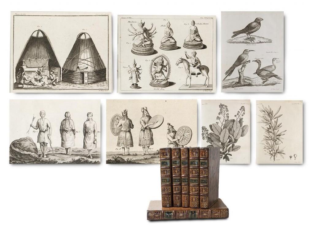 Peter Simon Pallas - Voyages dans plusieurs provinces de l`Empire de Russie ... , Paris Lagrange/Maradan 1788-1793