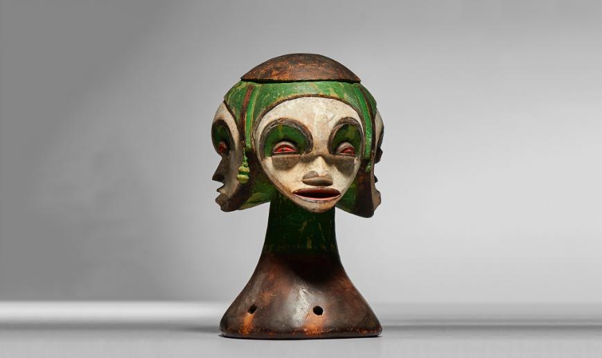Mask Idoma, wood and pigments, Nigeria. Image: Native