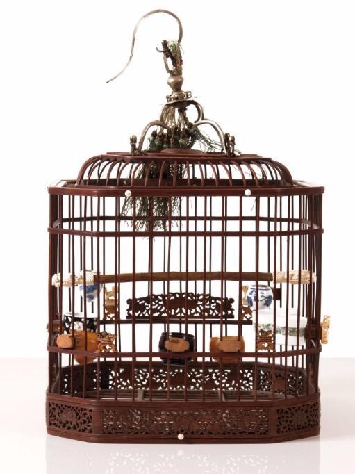 Cage à oiseaux, Chine, XIXème siècle Leclere