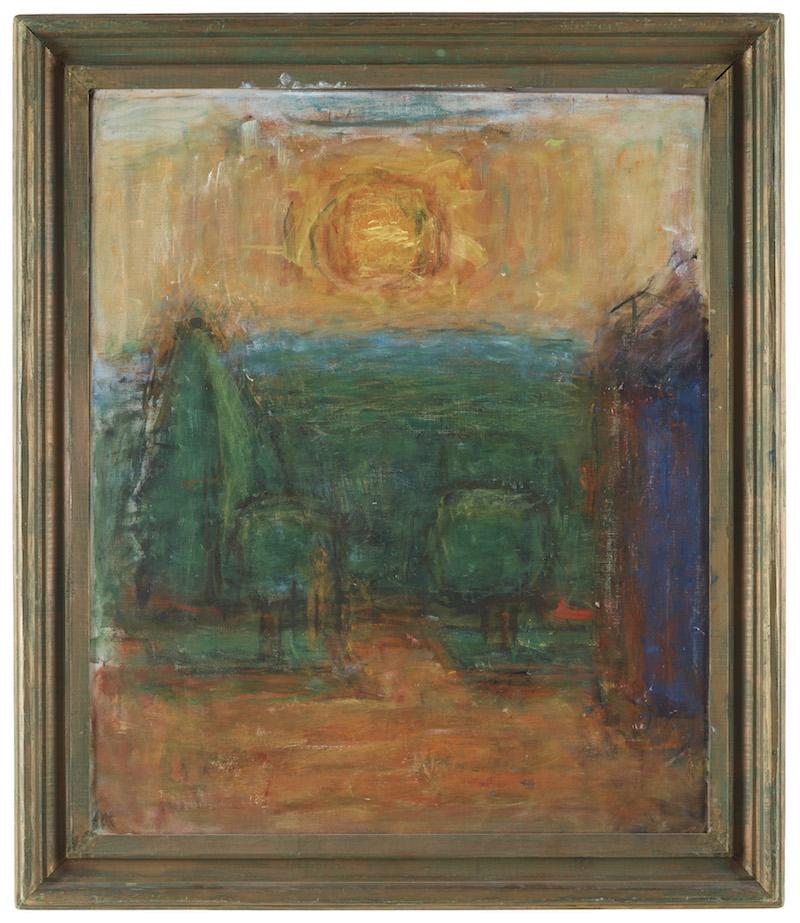 """Carl Kylbergs """"Soluppgång i trädgården"""" / """"Morgonsol i trädgården"""" ingår i samlingen som säljs på auktion i början på juni"""