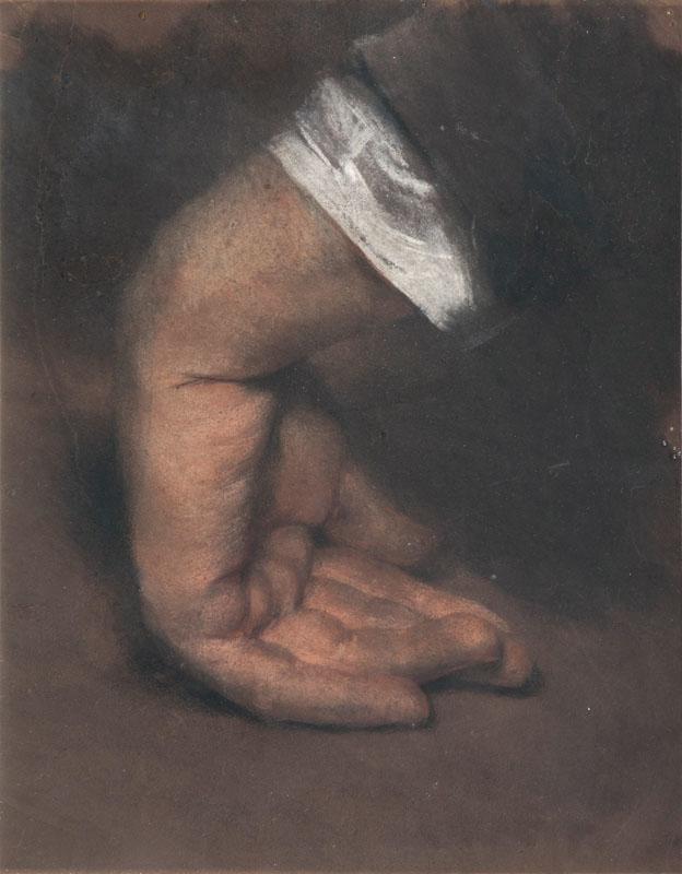 ADOLPH VON MENZEL (Breslau 1815 - Berlin 1905) - Aufgestützte Hand, Pastell, 23 x 18,5 cm, um 1848 Katalogpreis: 9.000 EUR