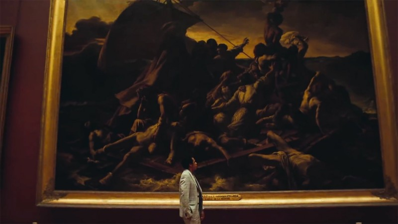 """Jay-Z in front of Théodore Géricault's """"The Raft of the Medusa"""". Photo: hyperallergic.com"""