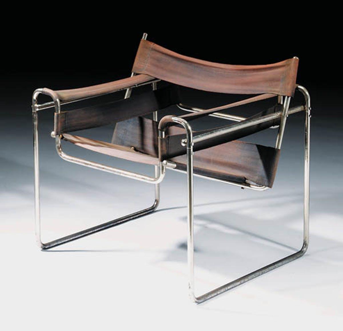 The Wassily Chair, Marcel Breuer, 1925. Bild Christie's